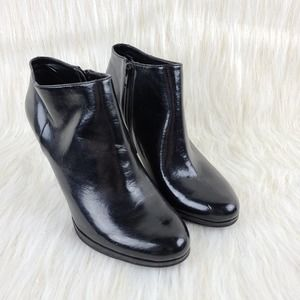 Connie Penny Black Ankle Heeled Boots